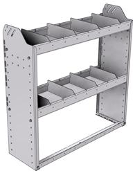 "20-3136-2 Square back shelf unit 36""Wide x 11.5""Deep x 36""High with 2 shelves"