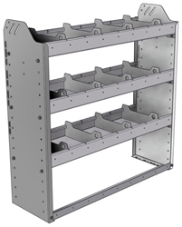 "20-3136-3 Square back shelf unit 36""Wide x 11.5""Deep x 36""High with 3 shelves"
