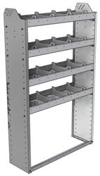 "20-3158-4 Square back shelf unit 36""Wide x 11.5""Deep x 58""High with 4 shelves"