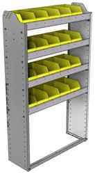 "22-3158-4 Square back bin shelf unit 34.5""Wide x 11.5""Deep x 58""High with 4 shelves"