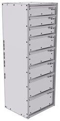 "16-1548-332 Tool drawer 18"" Wide X 15.5"" Deep X 47-11/16"" High with 8 drawers"