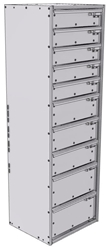 "16-1556-532 Tool drawer 18"" Wide X 15.5"" Deep X 55-11/16"" High with 10 drawers"