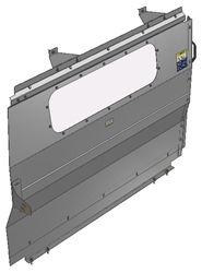 10-NV01-123 Window Contoured Partition for NV Low Roof