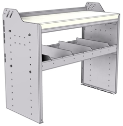 """18-3530-1W Workbench 34.5""""Wide x 15.5""""Deep x 30""""high with 1 standard divider shelf and a 1.5"""" thick hardwood worktop"""