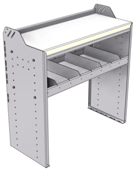 "18-3536-1W Workbench 34.5""Wide x 15.5""Deep x 36""high with 1 standard divider shelf and a 1.5"" thick hardwood worktop"