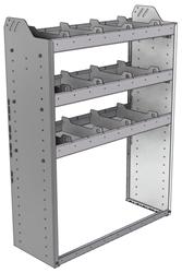 "20-3348-3 Square back shelf unit 36""Wide x 13.5""Deep x 48""High with 3 shelves"