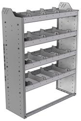 "20-3348-4 Square back shelf unit 36""Wide x 13.5""Deep x 48""High with 4 shelves"