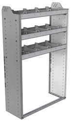"20-3358-3 Square back shelf unit 36""Wide x 13.5""Deep x 58""High with 3 shelves"