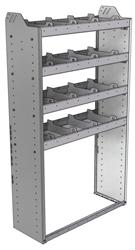 "20-3363-4 Square back shelf unit 36""Wide x 13.5""Deep x 63""High with 4 shelves"