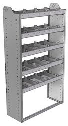 "20-3363-5 Square back shelf unit 36""Wide x 13.5""Deep x 63""High with 5 shelves"