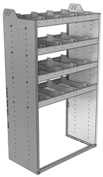 "20-3863-4 Square back shelf unit 36""Wide x 18.5""Deep x 63""High with 4 shelves"