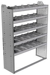 "20-4563-5 Square back shelf unit 48""Wide x 15.5""Deep x 63""High with 5 shelves"
