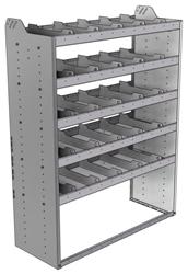 "20-4863-5 Square back shelf unit 48""Wide x 18.5""Deep x 63""High with 5 shelves"
