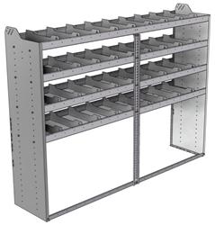 "20-8863-4 Square back shelf unit 84""Wide x 18.5""Deep x 63""High with 4 shelves"