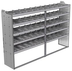 "20-9863-5 Square back shelf unit 96""Wide x 18.5""Deep x 63""High with 5 shelves"