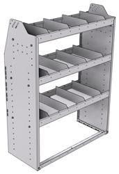 "21-3548-3 Profiled back shelf unit 36""Wide x 15.5""Deep x 48""High with 3 shelves"