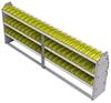 "23-9336-3 Profiled back bin shelf unit 94""Wide x 13.5""Deep x 36""High with 3 shelves"