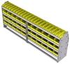 "23-9536-4 Profiled back bin shelf unit 94""Wide x 15.5""Deep x 36""High with 4 shelves"