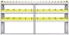 "23-9548-3 Profiled back bin shelf unit 94""Wide x 15.5""Deep x 48""High with 3 shelves"