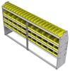 "23-9548-4 Profiled back bin shelf unit 94""Wide x 15.5""Deep x 48""High with 4 shelves"