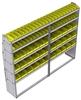 "23-9572-5 Profiled back bin shelf unit 94""Wide x 15.5""Deep x 72""High with 5 shelves"