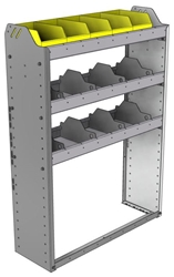 "24-3148-3 Square back bin separator combo shelf unit 34.5""Wide x 11.5""Deep x 48""High with 3 shelves"