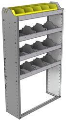"24-3158-4 Square back bin separator combo shelf unit 34.5""Wide x 11.5""Deep x 58""High with 4 shelves"