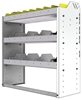"24-3336-3 Square back bin separator combo shelf unit 34.5""Wide x 13.5""Deep x 36""High with 3 shelves"