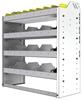 "24-3336-4 Square back bin separator combo shelf unit 34.5""Wide x 13.5""Deep x 36""High with 4 shelves"