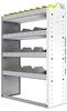 "24-3348-4 Square back bin separator combo shelf unit 34.5""Wide x 13.5""Deep x 48""High with 4 shelves"