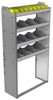 "24-3363-4 Square back bin separator combo shelf unit 34.5""Wide x 13.5""Deep x 63""High with 4 shelves"
