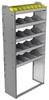 "24-3372-5 Square back bin separator combo shelf unit 34.5""Wide x 13.5""Deep x 72""High with 5 shelves"