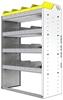 "24-3548-4 Square back bin separator combo shelf unit 34.5""Wide x 15.5""Deep x 48""High with 4 shelves"