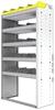 "24-3563-5 Square back bin separator combo shelf unit 34.5""Wide x 15.5""Deep x 63""High with 5 shelves"