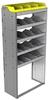 "24-3572-5 Square back bin separator combo shelf unit 34.5""Wide x 15.5""Deep x 72""High with 5 shelves"