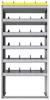 "24-3572-6 Square back bin separator combo shelf unit 34.5""Wide x 15.5""Deep x 72""High with 6 shelves"