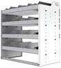 "24-3836-4 Square back bin separator combo shelf unit 34.5""Wide x 18.5""Deep x 36""High with 4 shelves"