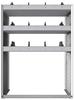 "24-3848-3 Square back bin separator combo shelf unit 34.5""Wide x 18.5""Deep x 48""High with 3 shelves"