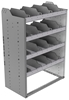 "24-3848-4 Square back bin separator combo shelf unit 34.5""Wide x 18.5""Deep x 48""High with 4 shelves"