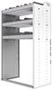 "24-3858-3 Square back bin separator combo shelf unit 34.5""Wide x 18.5""Deep x 58""High with 3 shelves"
