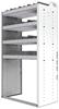 "24-3863-4 Square back bin separator combo shelf unit 34.5""Wide x 18.5""Deep x 63""High with 4 shelves"