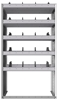"24-3863-5 Square back bin separator combo shelf unit 34.5""Wide x 18.5""Deep x 63""High with 5 shelves"