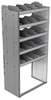"24-3872-5 Square back bin separator combo shelf unit 34.5""Wide x 18.5""Deep x 72""High with 5 shelves"