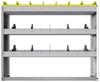 "24-4136-3 Square back bin separator combo shelf unit 43""Wide x 11.5""Deep x 36""High with 3 shelves"
