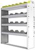 "24-4148-4 Square back bin separator combo shelf unit 43""Wide x 11.5""Deep x 48""High with 4 shelves"
