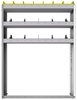 "24-4158-3 Square back bin separator combo shelf unit 43""Wide x 11.5""Deep x 58""High with 3 shelves"