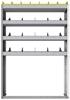 "24-4163-4 Square back bin separator combo shelf unit 43""Wide x 11.5""Deep x 63""High with 4 shelves"