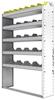 "24-4163-5 Square back bin separator combo shelf unit 43""Wide x 11.5""Deep x 63""High with 5 shelves"