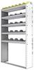 "24-4172-5 Square back bin separator combo shelf unit 43""Wide x 11.5""Deep x 72""High with 5 shelves"