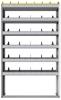 "24-4172-6 Square back bin separator combo shelf unit 43""Wide x 11.5""Deep x 72""High with 6 shelves"
